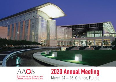 AAOS 2020 Annual Meeting (American Academy of Orthopaedic Surgeons) – CANCELLED