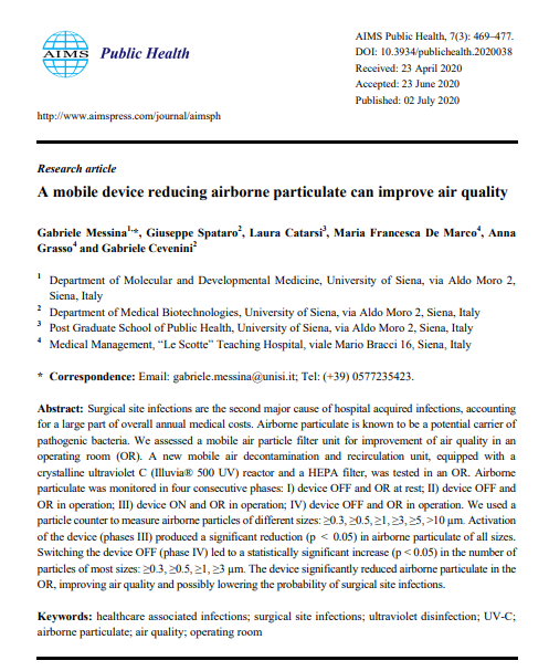 A mobile device reducing airborne particulate can improve air quality