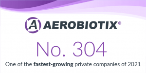 AEROBIOTIX NAMED TO INC. 5000 LIST OF FASTEST-GROWING PRIVATE COMPANIES